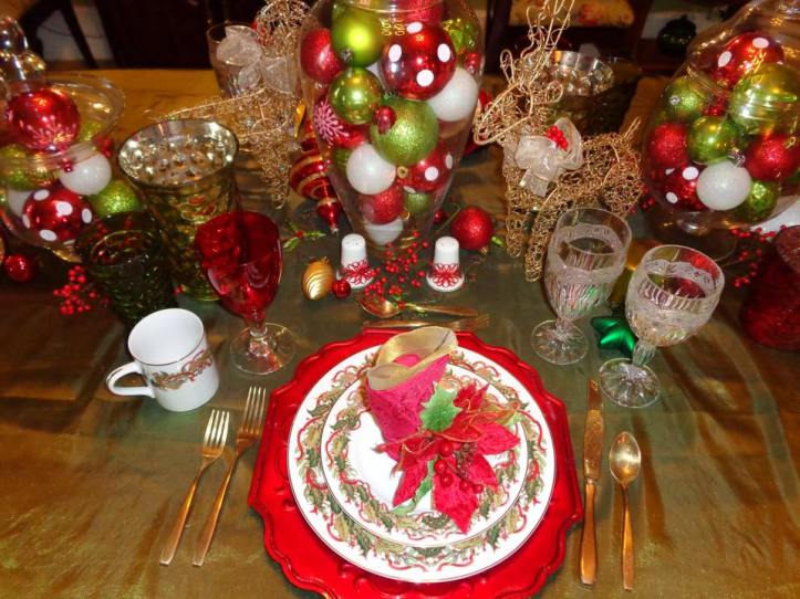 2014 christmas tablescape